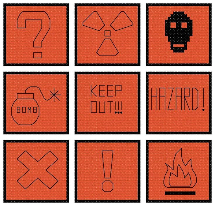 Looking for your next project? You're going to love Hazard signs cross stitch pattern by designer craftcartwright.