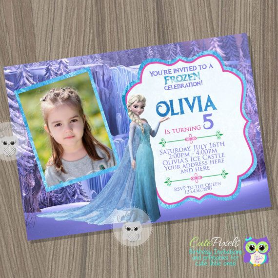 Frozen Invitation Disney Elsa Birthday In 2019