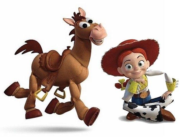 *BULLSEYE & JESSE ~ Toy Story 3 Horse Bullseye and Jessie