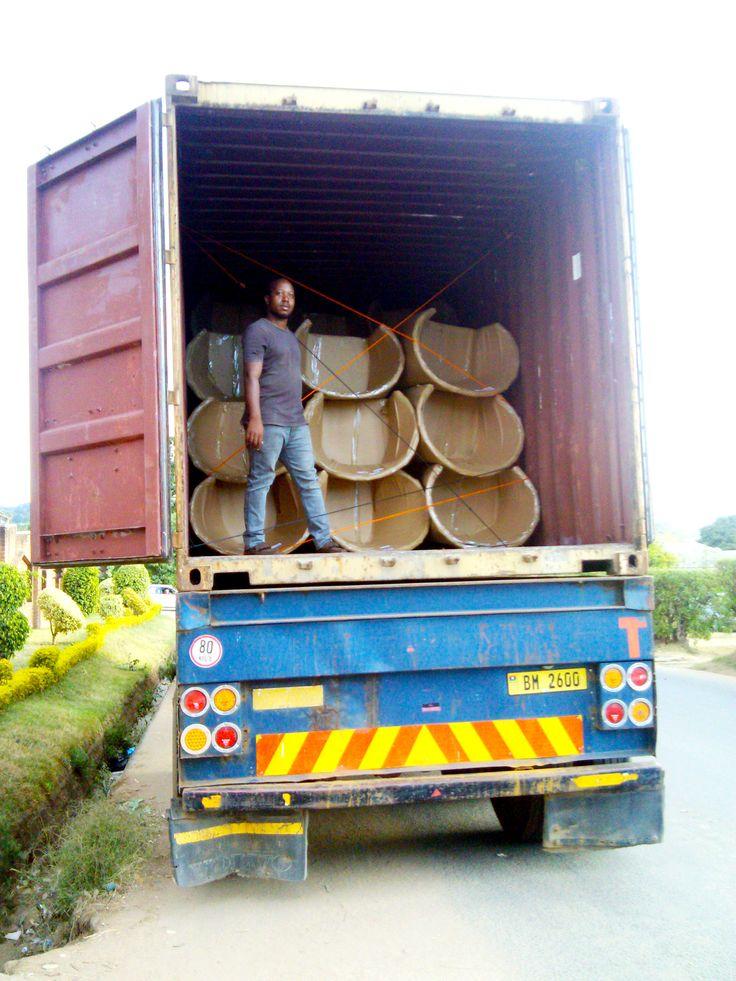 Loading malawian chairs