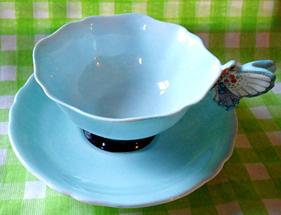 Amazing Paragon Butterfly Teacup by RoyalRummage on Etsy, $175.00