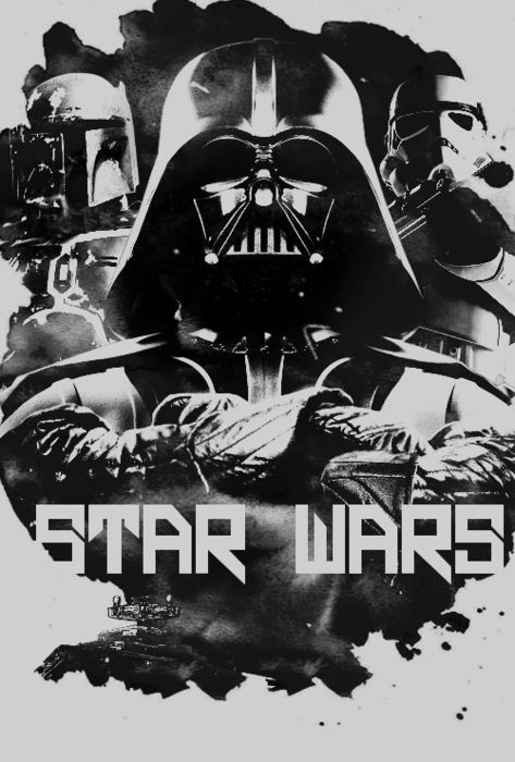 "Star Wars poster; I think Star Wars still are my favorite movies. Although I despise the ""new ones"""