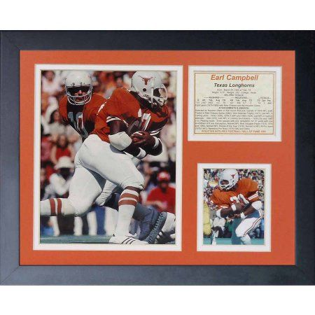 Legends Never Die Earl Campbell Texas Longhorns Framed Photo Collage, 11 inch x 14 inch