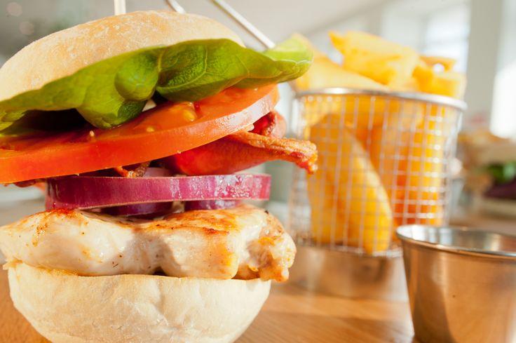 The Beach Deck chicken burger