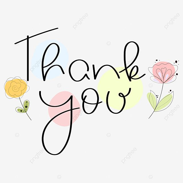 Thank You Text With Flowers And Thank You Thankyou Thanksgiving Png And Vector With Transparent Background For Free Download Clip Art Pesta Musim Panas Ilustrasi