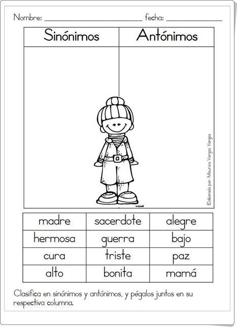 Singular y plural Spanish Worksheets, Spanish Teaching Resources, Spanish Lessons, Synonym Activities, Language Activities, Classroom Activities, Bilingual Classroom, Bilingual Education, Classroom Language