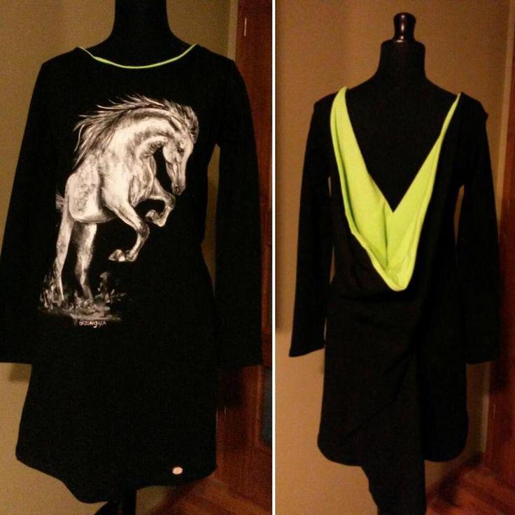 Ręcznie malowana sukienka hand painted dress horse, koń