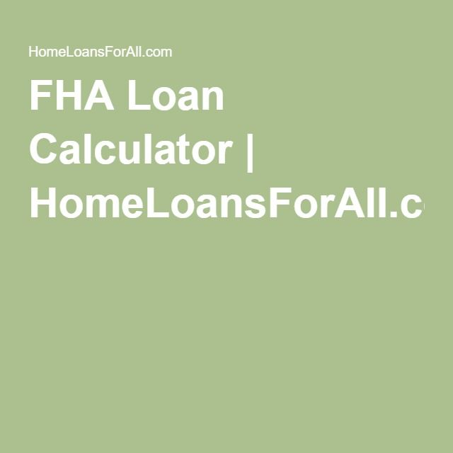 Our FHA Loan Calculator Is A Great Tool To Determine The