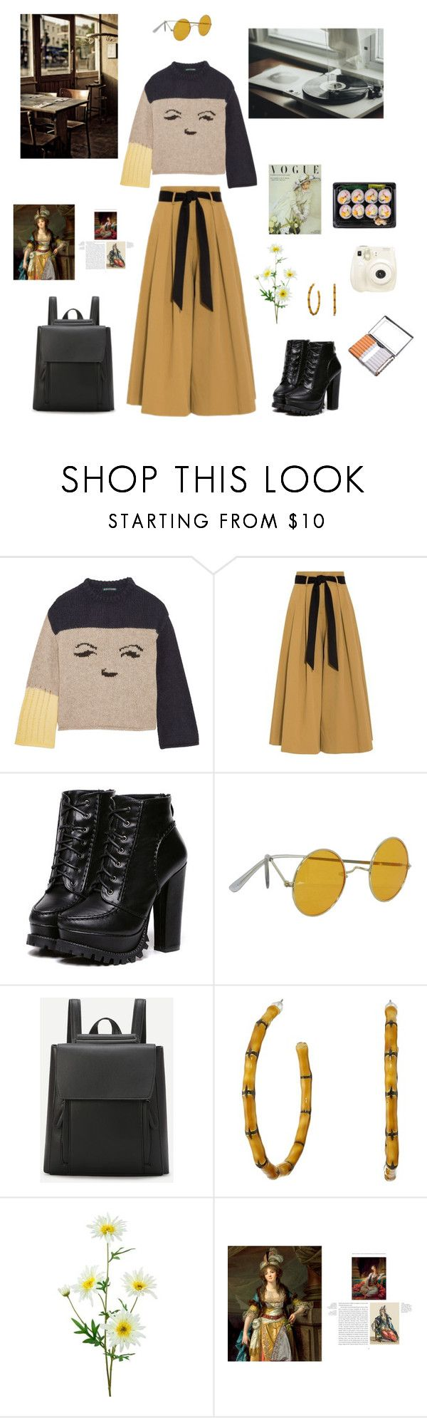 """""""coffee break"""" by shizuneaoi ❤ liked on Polyvore featuring AlexaChung, Temperley London, Kenneth Jay Lane and Polaroid"""