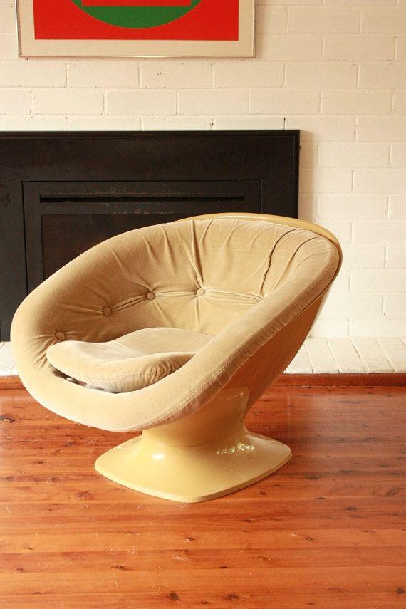 1970s SEBEL Tub chair Design Team Tillberg by TriBecasVintage
