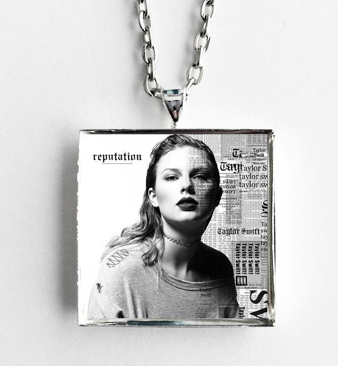 Taylor Swift - Reputation - Album Cover Art Pendant Necklace
