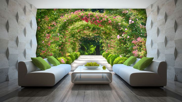 vlies poster wandbild tapeten fototapete garten pflanzen natur blumen 3fx2731ve ebay. Black Bedroom Furniture Sets. Home Design Ideas