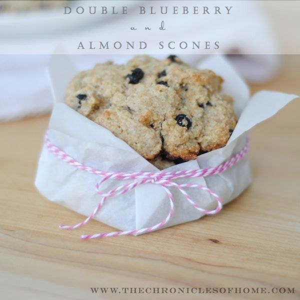 The Chronicles of Home: Double Blueberry and Almond Scones