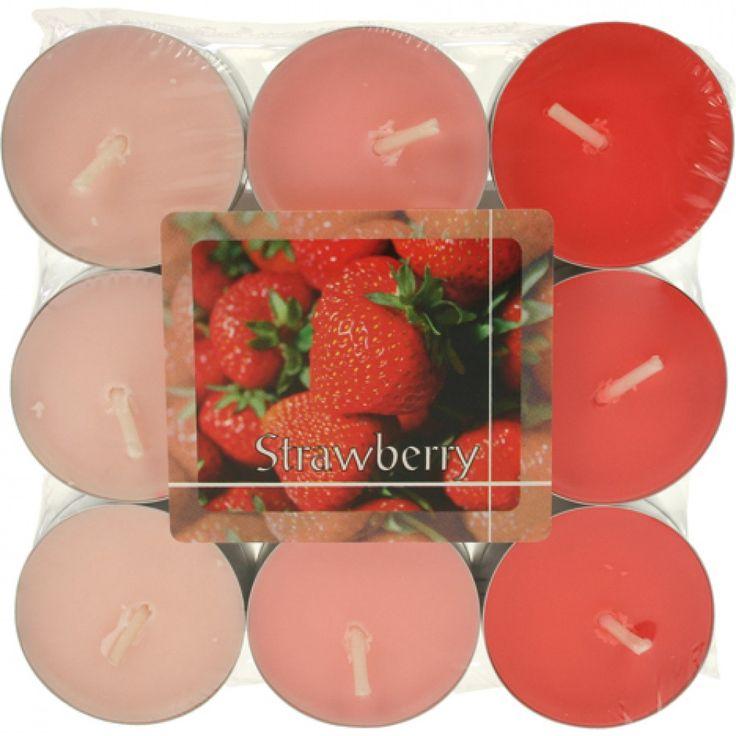 Tealights fraise parfum du grossiste et import