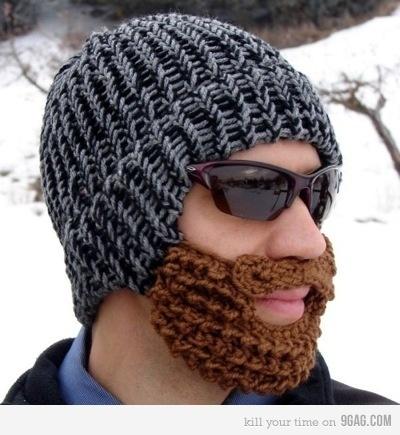 The Beard Hat: Beards Hats, Idea, Christmas Presents, Funny, Beanie Hats, Crafts, Beardhat, Christmas Gifts, Winter Hats