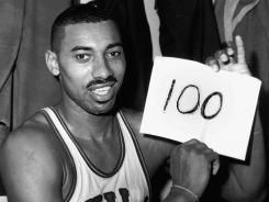 50 years ago today Wilt Chamberlain scored 100 points in an NBA game in his team's victory.  Incredible feat.