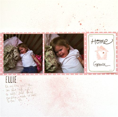 Love the simple layout of this page and Ali's stamp set!