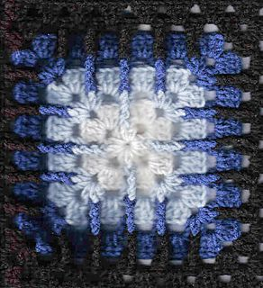 """Trebling Granny Square (12"""")  - free crochet pattern by Amelia Beebe at Crochetville."""