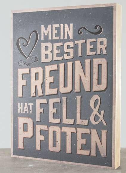 Retro-SchilderHundefreund-Holzschild: Mein bester Freund ...