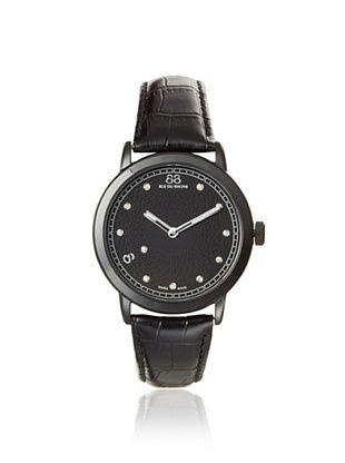 88 RUE DU RHONE Men's 87WA120029 Double 8 Origin Black Leather Watch