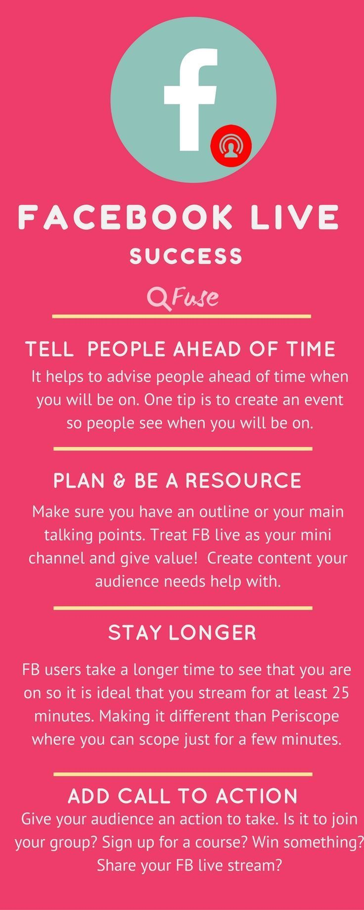 Have you tried Facebook Live stream yet? Need FB live tips? read on through for tips with FB