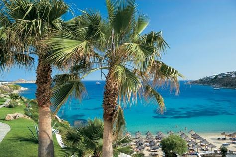 #Mykonos_Blu, right on the famous Psarou Beach