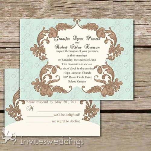 43 best Vintage Wedding Invitations images on Pinterest - vintage invitation template