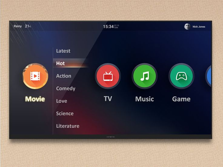 Dribbble - Smart TV UI 2 by Kingyo
