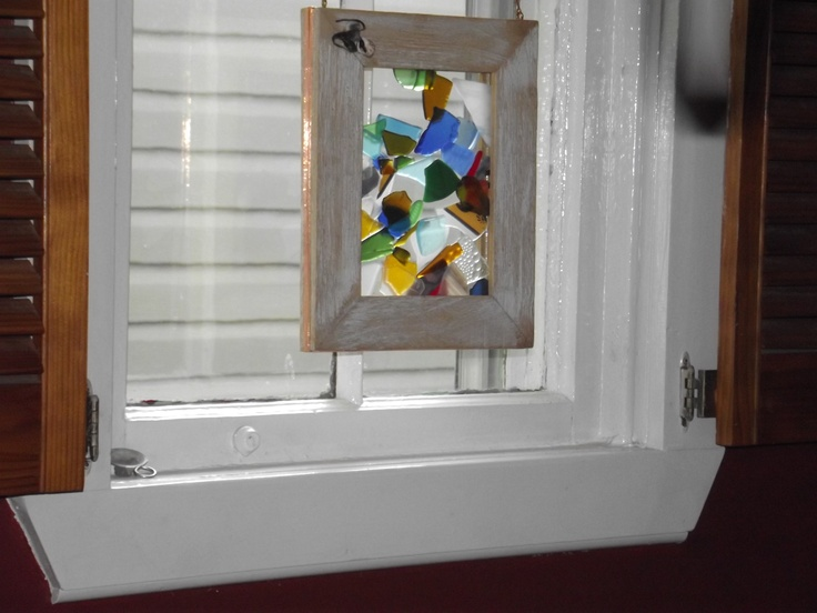 """From The Nut...Shea Butters...............8""""x10"""" hand made glass pieces for windows, made in Nova Scotia...$25.00"""