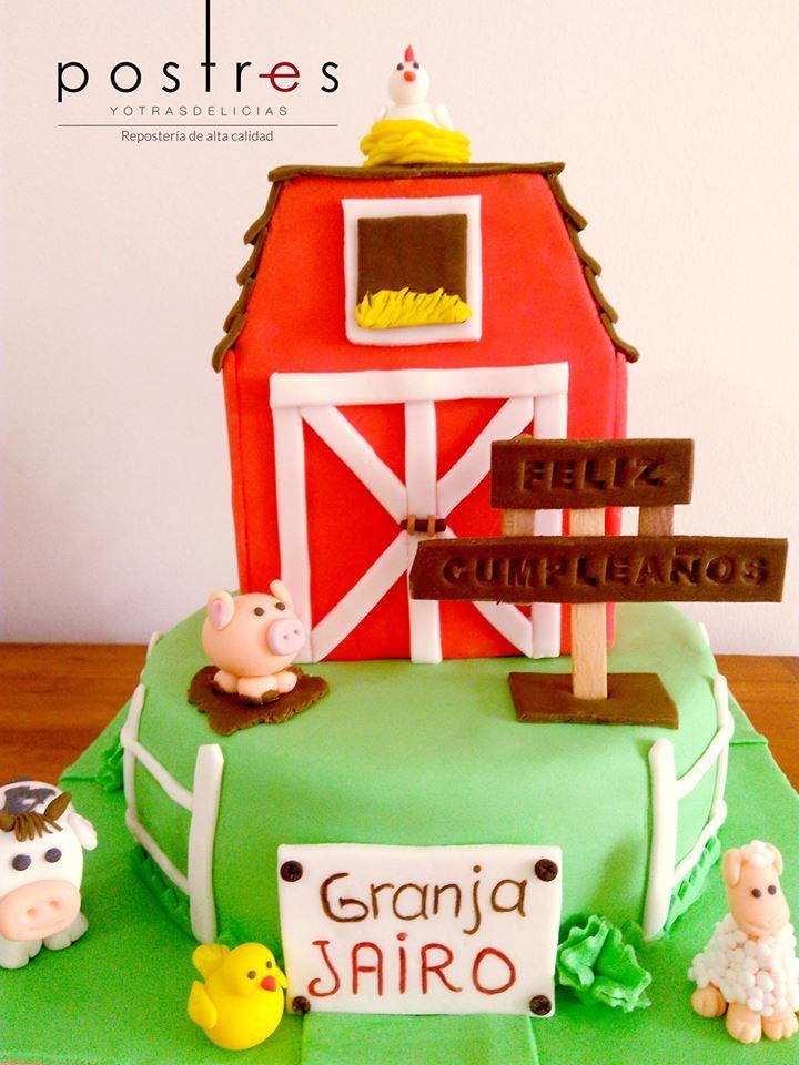 Torta Granja #granja #tortastematicas #postresyotrasdelicias