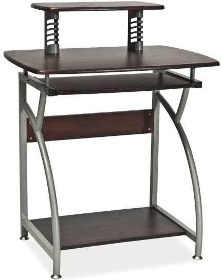 Signal, B-07 pracovný stôl, alumínium/tmavohnedá