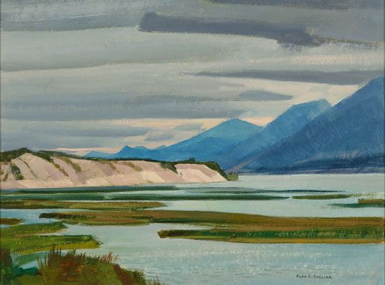 Alan Collier - South End of Columbia Lake at Canal Flats B,C.  12 x 16 Oil on board