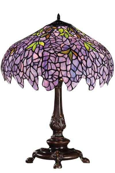 Purple Lamp Shades Table Lamps: Mission Semi Flush Ceiling Fixture Tiffany Style Lamps. Jinelli Antique  Selection Tiffany Studios 4 Light Lily Desk Lamp. Tiffany Lam.,Lighting