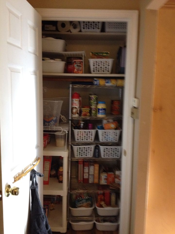 Coat Closet Converted Into Pantry Organizing Your Home