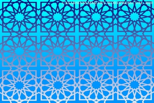 Bright Blue Stat Pattern Wallpaper
