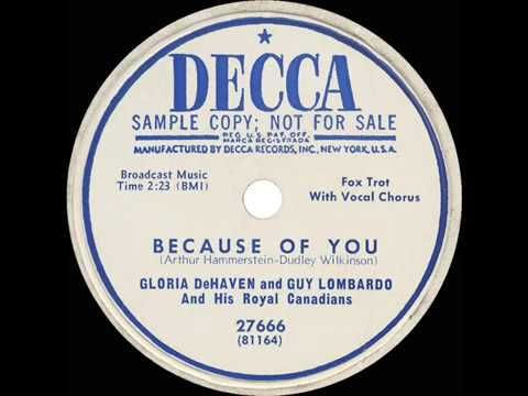 1951 HITS ARCHIVE: Because Of You - Gloria DeHaven & Guy Lombardo