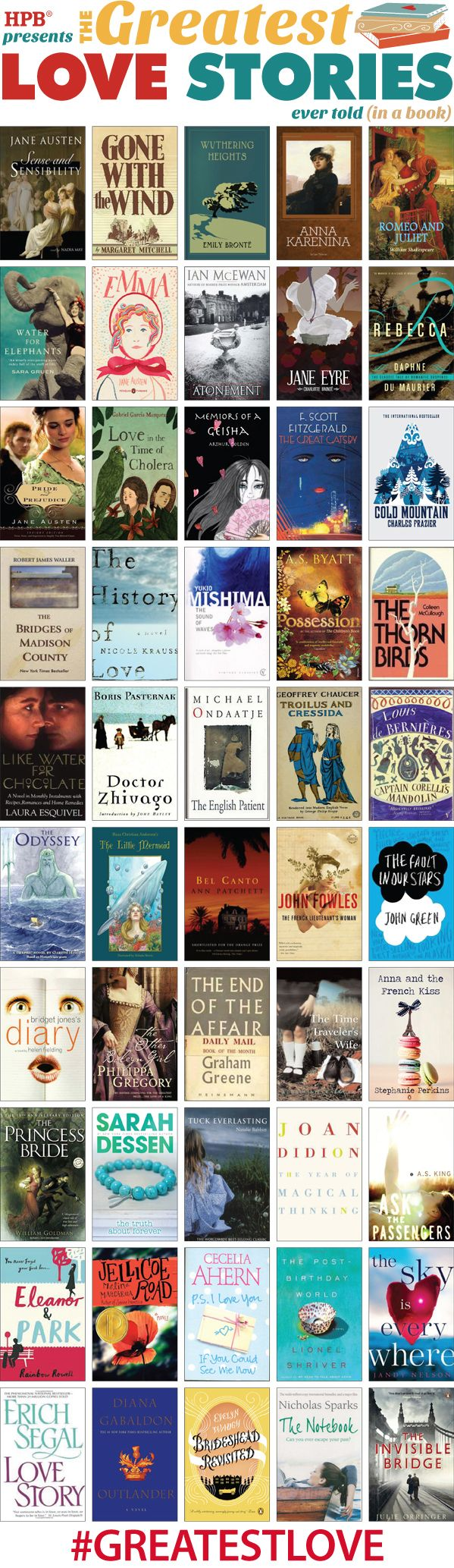 50 Greatest Love Stories Ever Told (in a book) - Half Price Books Blog - HPB.com