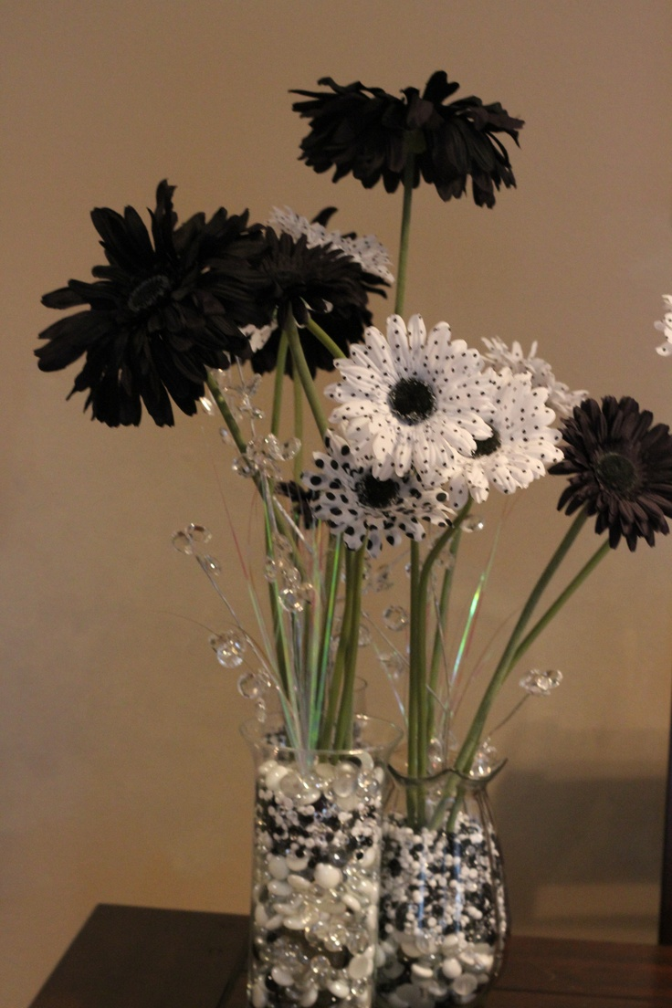 Table Decorations For 40th Black And White Party
