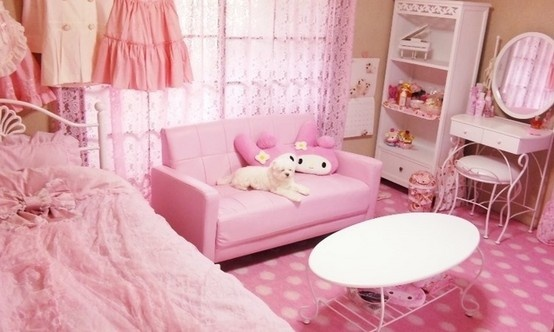 pink kawaii room room decor storage ideas pinterest sexy inspiration and everything. Black Bedroom Furniture Sets. Home Design Ideas