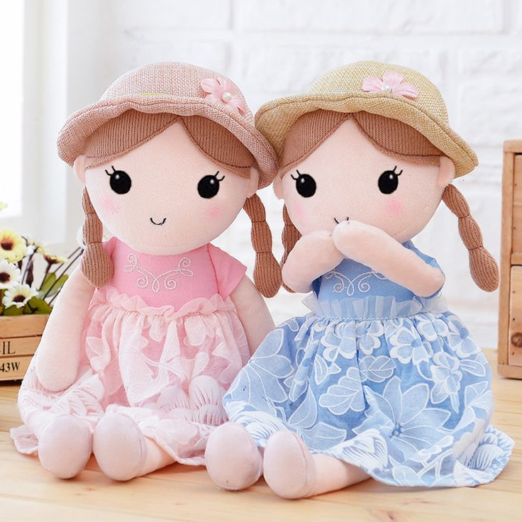 Free shipping 40cm&50cm cute girls action figure with dress plush toy soft kids stuffed baby doll girls birthday&christmas gift //Price: $US $13.99 & FREE Shipping //     #toyz24