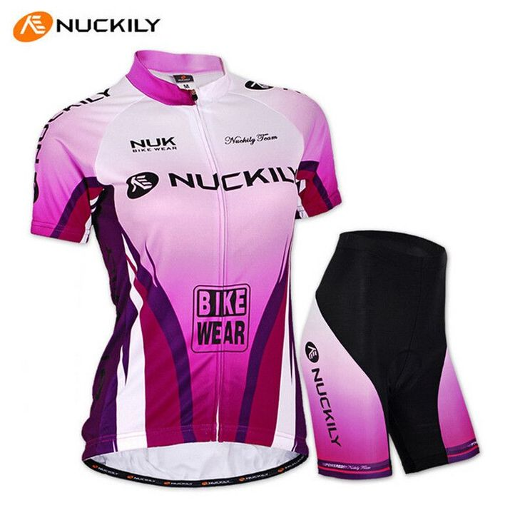 NUCKILY Ropa Ciclismo Women Cycling Jersey Short-sleeve T-shirt Breathable Shorts Bike Clothing Outdoor MTB Cycling Jersey Set