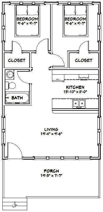 Best 25 garage guest house ideas on pinterest carriage for 16x32 cabin floor plans