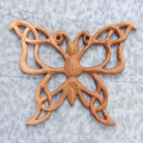 Celtic Butterfly Knot of Metamorphosis-Life Transition Symbol-Celebrating Soul Journey