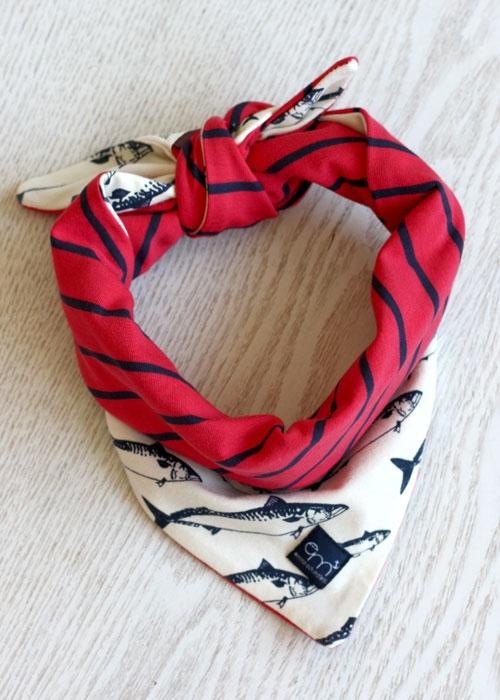 scarf | navy | fish | emma & malena