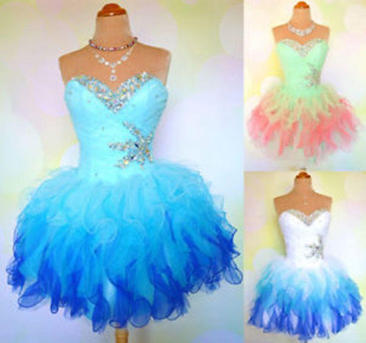 Hot Selling Homecoming Dress Ball Gown Party Prom Beading Cocktail Dresses Stock