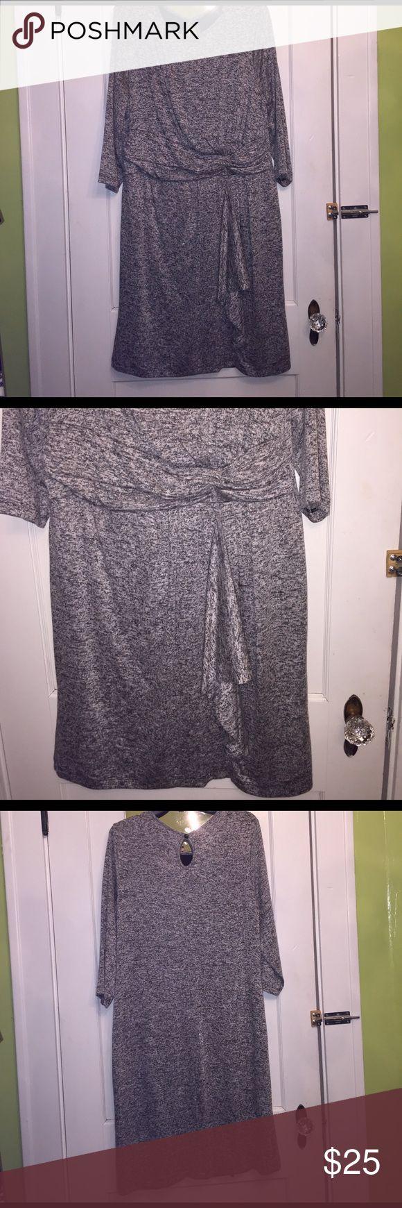 Ashley Stewart Heather Gray Dress Sz 18/20 Ashley Stewart Heather Gray Dress Sz 18/20. Worn once. Excellent Condition. Ashley Stewart Dresses Midi