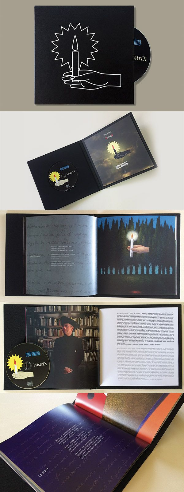 HistriX / Paolo Melandri. Nell'Anima. A full color 48 pages album with 14 paintings, photos, texts and lyrics in Italian and English. Size: 21 x 21 cm. A CD with 14 songs. Hard cover bind 23x23 cm. Edition: 200 copies. #music#poetry#song#lyrics#illustrationart