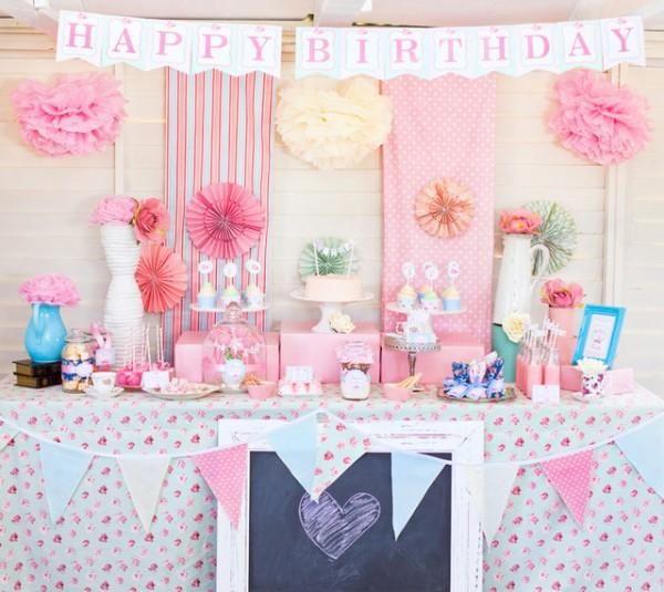 Ideas para cumpleaños de niña: ¡rosa chic!