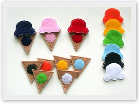 Ice Cream ITH Color Matching Game Embroidery by Bobbin4appliques