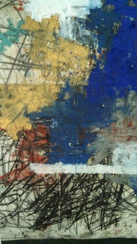 Oscar Murillo, Untitled (2014), via Art Observed